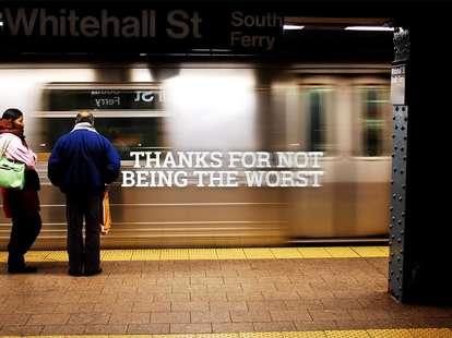speeding NYC Subway