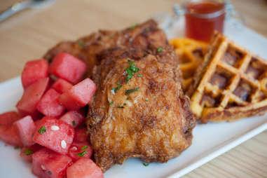 Yardbird chicken and waffle