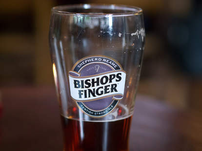 bishops finger pint glass