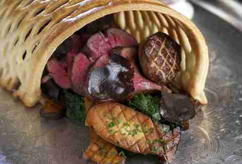 Rose. Rabbit. Lie. beef wellington