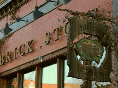 Brick store exterior