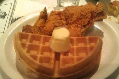 Sylvia's chicken and waffles