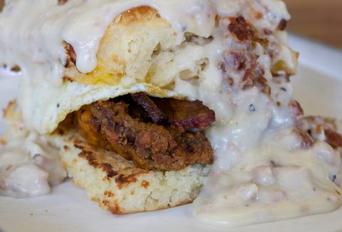 biscuits and gravy at TILT