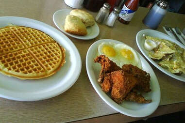 Lois the Pie Queen chicken and waffles