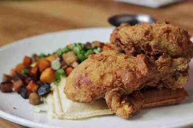 longman & eagle chicken and waffle