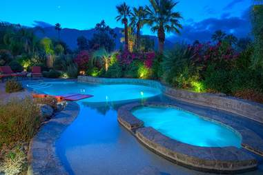 Pools at a Palm Springs vacation rental