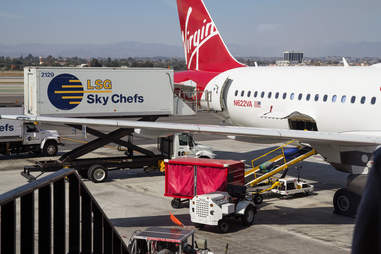 food loading onto plane