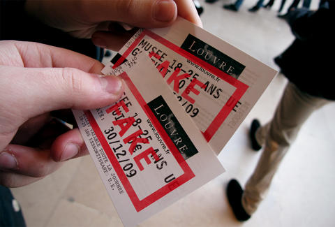 Free Louvre tickets are fake