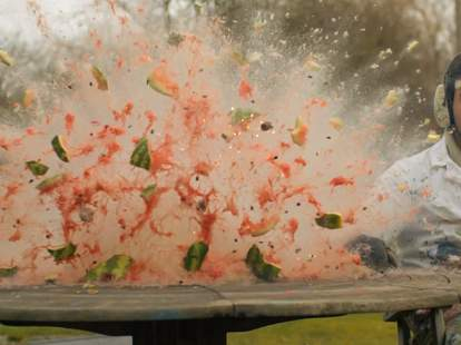 Exploding watermelon