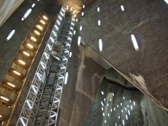 salt mine elevator