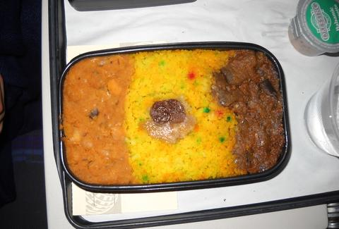 Disgusting in-flight meal