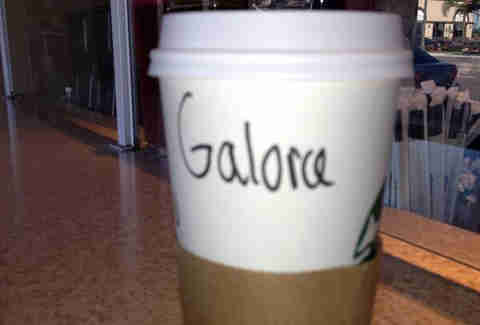 Misspelled Starbucks Gloria