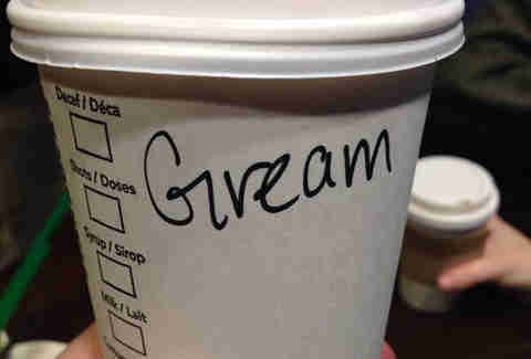 Misspelled Starbucks Graham