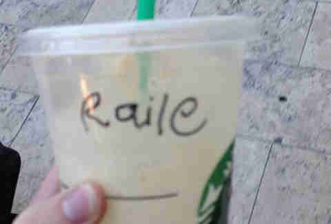 Misspelled Starbucks Riley