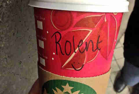 Misspelled Starbucks Roland