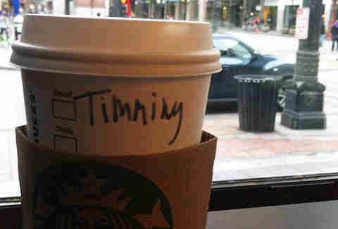 Misspelled Starbucks Tiffany