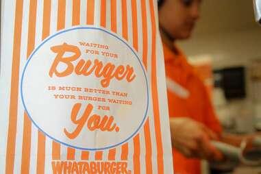 Orange and White Stripes Whataburger Dallas