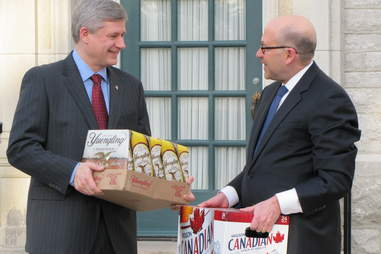 stephen harper with yuengling