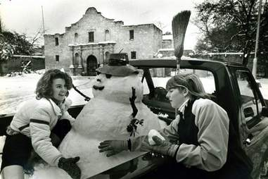 snow in San Antonio