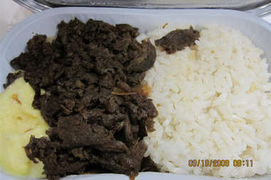 Meat and rice