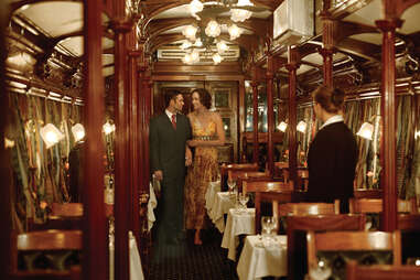 fancy dress on safari train
