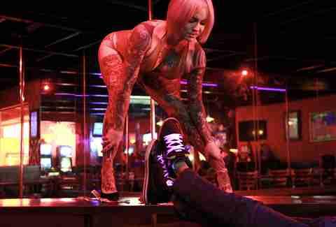 Stripper stage show