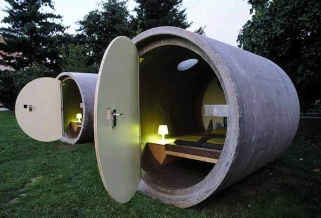 What would you pay to sleep in a sewage pipe?