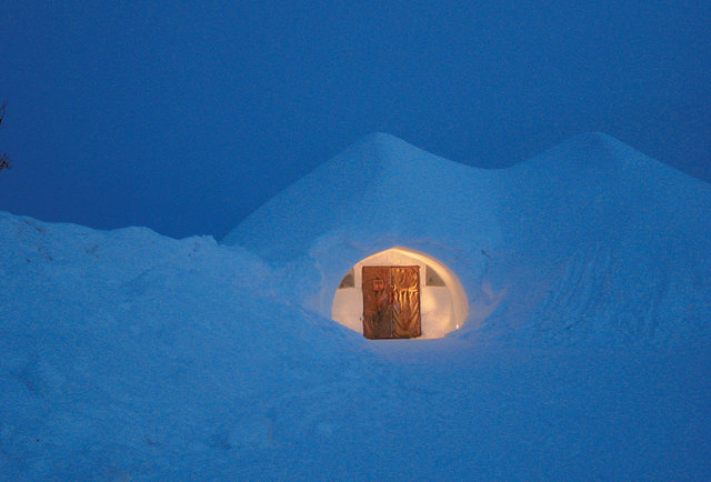 Spend the night at an igloo village in Finland