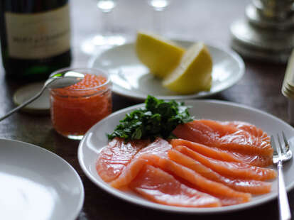 fish and caviar
