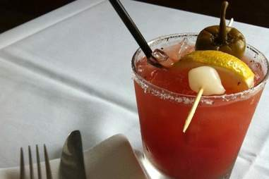 bloody mary at pub and kitchen