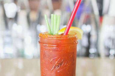 Bloody mary at skillet