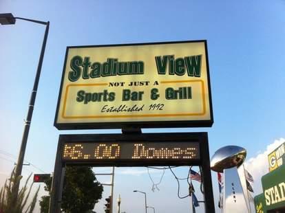 Stadium View sign