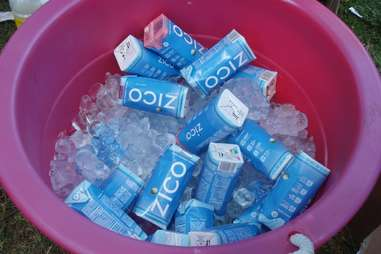 Tub of coconut water