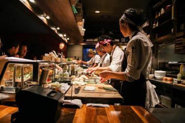 sushi bar at Uchi