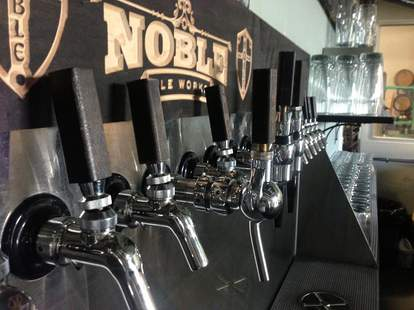 noble ale works tap selection