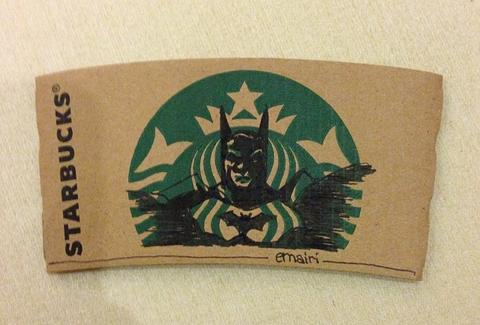 Batman Starbucks sleeve