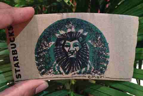 Lion King Starbucks sleeve