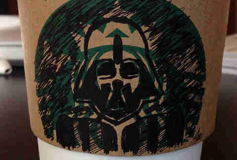 Darth Vader Starbucks sleeve