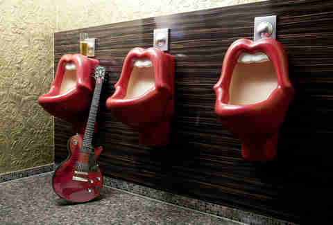 Mick Jagger Lips urinal