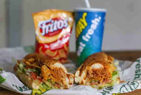 subway fritos enchilada chicken melt