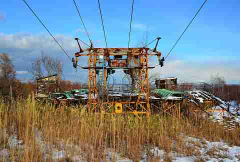 Mt Teine Abandoned Ski Lifts