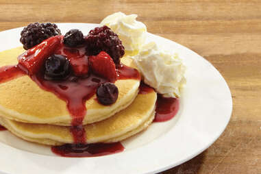 Wendy's wildberry pancakes