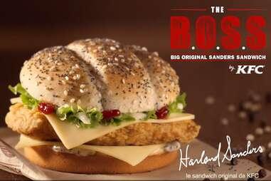 KFC B.O.S.S. sandwich