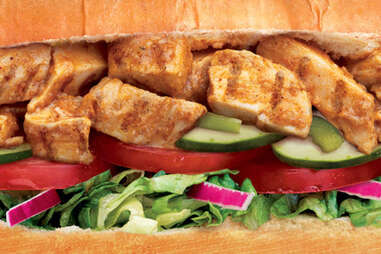 Subway chicken tikka sub