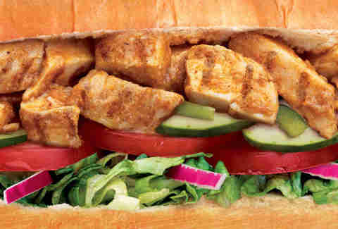 Subway chicken tikka sub
