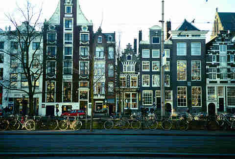 Amsterdam bicycles and buildings