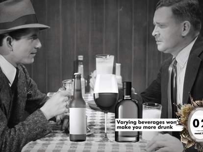 Beer before liquor never sicker myth