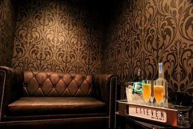 Private room at E11even Miami