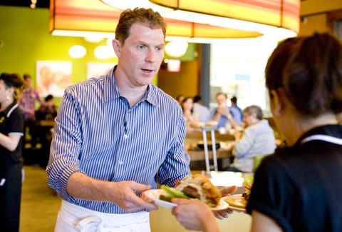 Bobby Flay at Bobby's Burger Palace