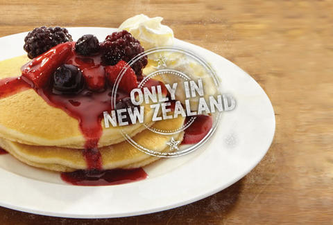 Wendy's wildberry pancakes New Zealand